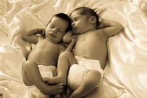 Twins, Savanna on the left.  So precious.