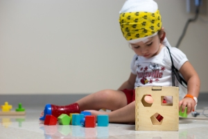 The Shape Sorter. A must for a toddler during a 23 hour EEG.